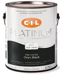 cil platinum interior paint pre tinted onyx black 3 78 l