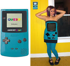 Game Boy Halloween Costume Lisa Malanij Lisa Malanij Teal Game Boy Color Dress Xhileration