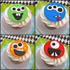 fondant cupcake toppers monster baby shower pinterest