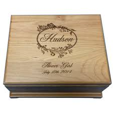 personalized wooden jewelry box alder wood jewelry box