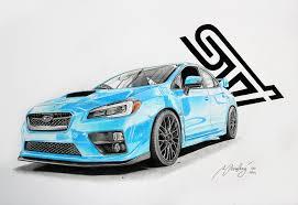 subaru blue subaru sti 2015 blue by mipo design on deviantart