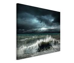 wandbilder 3 teilig 120x80cm leinwandbild auf keilrahmen meer ozean wellen sturm