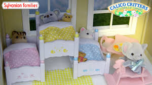 three bunk beds sylvanian family calico critters triple bunk bed set unboxing