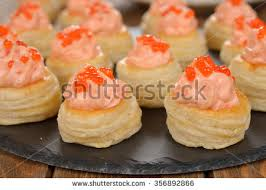 canape mousse canape salmon mousse caviar stock photo royalty free 356892866