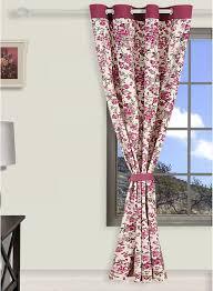 buy swayam printed eyelet maroon curtains online india best