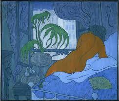 la chambre bleu akg images la chambre bleu ou nu à l évantail