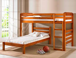 Pondorosa Single Size Double Bunk Flat Pack Furniture - Right angle bunk beds