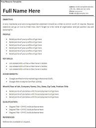 Resume Templates For Word Downloadable Resume Templates Word 275 Free Resume