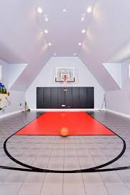 sports themed piggy banks basketball court home contemporary with wall padding sports