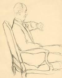 drawing of man looking at his watch digital art by carl oscar