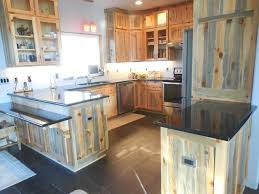 Rustic Pine Kitchen Cabinets by Blue Pine Kitchen Contemporary Kitchen Other By Cabinet