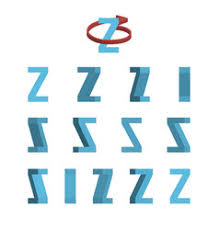 sheet of sprites rotation of cartoon 3d letter a vector image