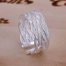 fine fashion rings images Free shipping 925 sterling silver ring fine fashion small net jpg
