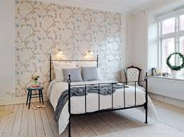 Small Teenage Bedroom Decorated With Paisley Wallpaper And by Romantic Bedroom Wall Decor Ideas