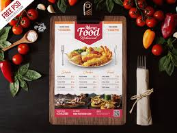 menu flyer template simple restaurant food menu flyer template psd psdfreebies