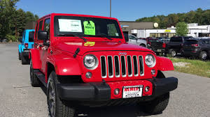 jeep sahara red 2017 jeep wrangler sahara st 17470s firecracker red dan