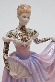 home interior porcelain figurines traditional porcelain figurines covered in colorful tattoos