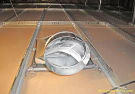 install an air duct in a suspended drywall ceiling
