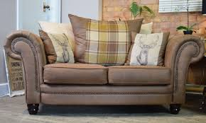 Scatter Back Sofa Abbey Downton 2 Seater Sofa Tan Brown Scatter Back Out Of Stock