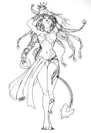 coloring is following character design of shiva from final fantasy