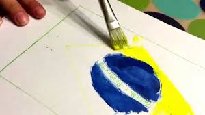 What Colour Is Brazil Flag How To Draw The Brazilian Flag Using Paint Youtube