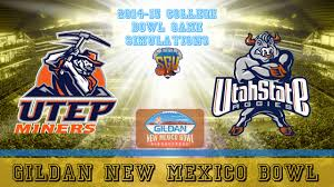 gildan new mexico bowl sim utah state vs utep ncaa football 14