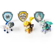 paw patrol action pack pups figure 3pk everest robodog