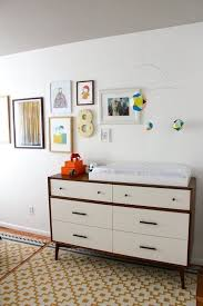 mid century changing table contributor style andie s own bedroom dresser mid century and