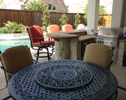 patio ideas round propane fire pit table with patio furniture