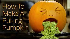 how to make a halloween puking pumpkin youtube