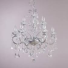 Chandelier Uk Bathroom Chandelier W Glass And Droplets 9 Lights