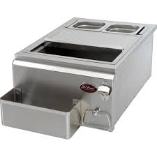 cal flame 18 in built in stainless steel cocktail center for