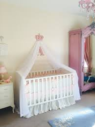 Ellery Round Crib by Girls Pink Nursery Cot Canopy White Bed Princess Crown Idea