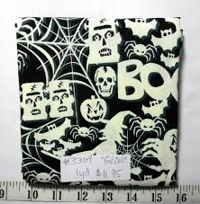 fabric 1yd piece glow in the dark halloween fabric frankenstein