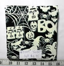 Glow In The Dark Halloween Fabric by Fabric 1yd Piece Glow In The Dark Halloween Fabric Frankenstein
