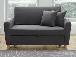 canapé 2places canapé 2p convertible en tissu prune ou gris xavier