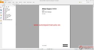 atlas copco simba h157 spare parts catalogue auto repair manual