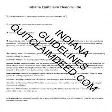 guidelines for an indiana quit claim deed example for shelby