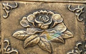 Rustic Iron Mail Slot Outdoor - iron flower mailbox embossed trim decor bronze look home garden