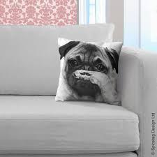 moustache cushion pug pillow 80s movember plush funny mustache