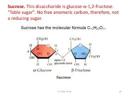 Table Sugar Formula 3 Simple And Complex Carbohydrates Lec 3