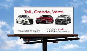audi ads automotive ooh ads leverage mixed media big picture wide