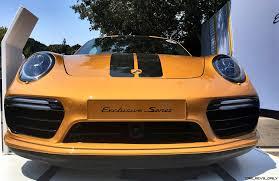 orange porsche 911 turbo werkswagen 2 8s 205mph 2018 porsche 911 turbo s exclusive series