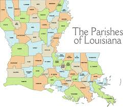 louisiana map with counties louisiana service and history announcement the
