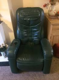 green leather reclining massage chair keyton mms 770 pro good