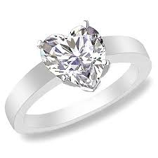 heart shaped diamond engagement ring preset heart shape diamond engagement rings on 14k white gold