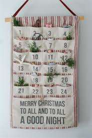 vintage style fabric advent calendar with pockets home