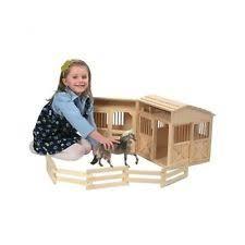 Toy Barn With Farm Animals Wooden Toy Barn Ebay