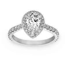 engagement rings london two by london pear shaped diamond halo engagement ring