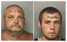 father and son forehead tattoo enthusiasts neatorama